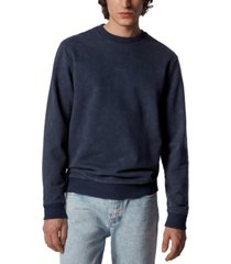 boss men's wash dark blue sweatshirt