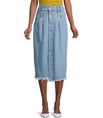 sidney denim midi skirt