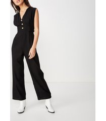 cotton on woven delilah deep v jumpsuit