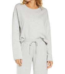 women's bp. all weekend crop sweatshirt, size x-large - grey