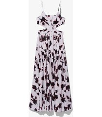 painted iris sleeveless maxi dress