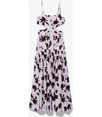 painted iris sleeveless maxi dress