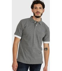 polera polo hombre foundation stretch polo gris cat