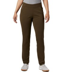 columbia women's anytime pull-on straight leg pants