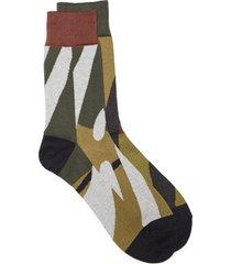 sacai x kaws print socks, size 1 in camouflage at nordstrom