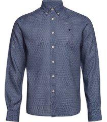 bligh button down linen shirt skjorta casual blå morris