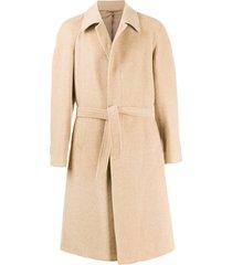 a.n.g.e.l.o. vintage cult 1990s tied midi coat - neutrals