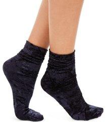 inc women's velvet slouchy crew socks, created for macy's