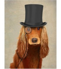 "fab funky cocker spaniel, formal hound and hat canvas art - 15.5"" x 21"""