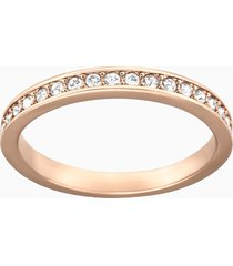 anello rare, bianco, placcato oro rosa