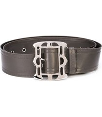 arthur avellano metal buckle belt - grey