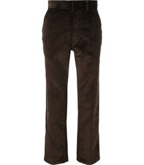 ami straight corduroy trousers - brown