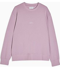 topman signature lilac printed sweatshirt - lilac