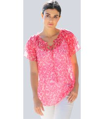 blouse alba moda pink::roze::geel