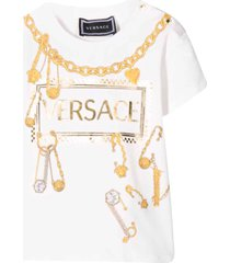 young versace white t-shirt with press