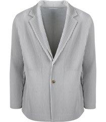 issey miyake unstructured pleated blazer