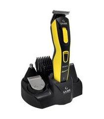 máquina cortador de cabelo gama gcx623 sport preto e amarelo bivolt