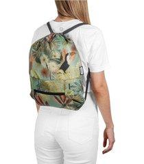 tula plegable estampado tropical citybags multicolor