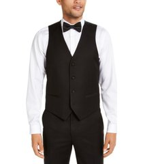 alfani men's classic-fit stretch black tuxedo vest, created for macy's