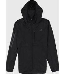 chaqueta negro adidas performance own the run