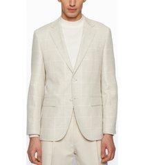 boss men's checked regular-fit jacket