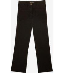 cropped pants black 44