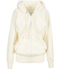 martin margiela draped zip-up hoodie