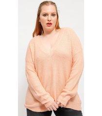 sweater brave soul rosa - calce regular