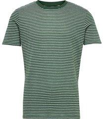 alder striped tee - gots/vegan t-shirts short-sleeved grön knowledge cotton apparel