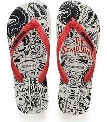 sandalias chanclas havaianas para hombre blanco simpsons