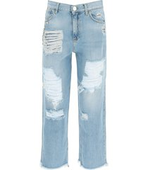 pinko maddie mom-fit jeans with crystals