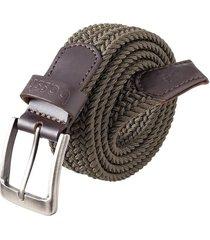 cinturón premium para hombre verde - bassto