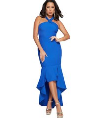 vestido marciano summer breeze azul guess