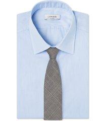cravatta su misura, loro piana, lana seta lino grigio, primavera estate | lanieri