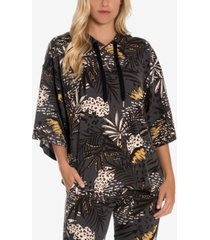 women's riley jungle tropical hacci lounge hoodie