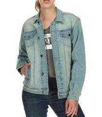 chaqueta mujer aquila denim jacket algodón azul cat