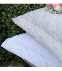 colcha com porta travesseiro trapuntada topazio dune - scavone - branco - dafiti