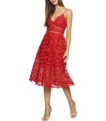 women's bardot sonya lace cocktail dress, size xx-small - red