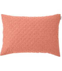 porta travesseiro altenburg boulevard carbon new poliéster radiance - coral rosa - tricae