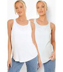 zwangerschap borstvoeding hemdjes (2 stuks), white
