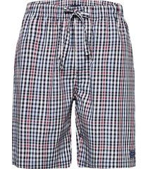 big check pajama shorts shorts casual blå gant