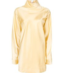 marni high-neck long-sleeve tunic - gold