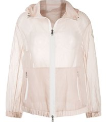 moncler transparent hooded jacket - pink