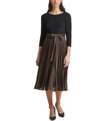 jessica howard layered-look pleated midi dress
