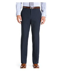 traveler collection tailored fit flat front washable wool dress pants - big & tall by jos. a. bank
