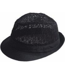 unisex fedora estiva traforata cappello jazz da spaggia
