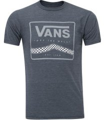 camiseta vans graphic off the wall - masculina - azul escuro