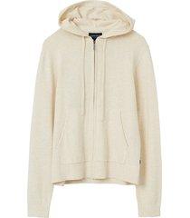 huvtröja june organic cotton/tencel knitted zip hoodie