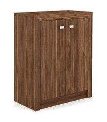 armário baixo 2 portas nogal me4103 videira marrom