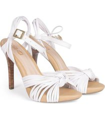 sandalia alta cuero blanco versilia katalina